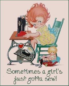 sometimes a girls just gotta sew